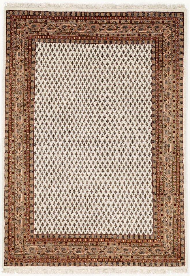 60x40cm MIR Teppich Rot Handgeknüpft Wolle Orientteppich Muster Orient Eingang