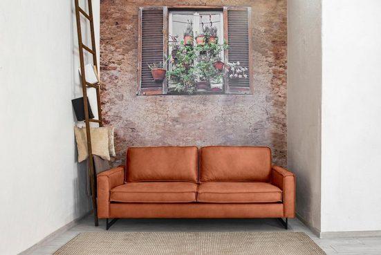Places of Style 3-Sitzer »Pinto«, mit Keder und Metallfüßen