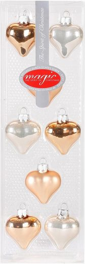 """MAGIC by Inge Christbaumschmuck »Herz """"Magic - Lovely Apricot""""« (16-tlg)"""