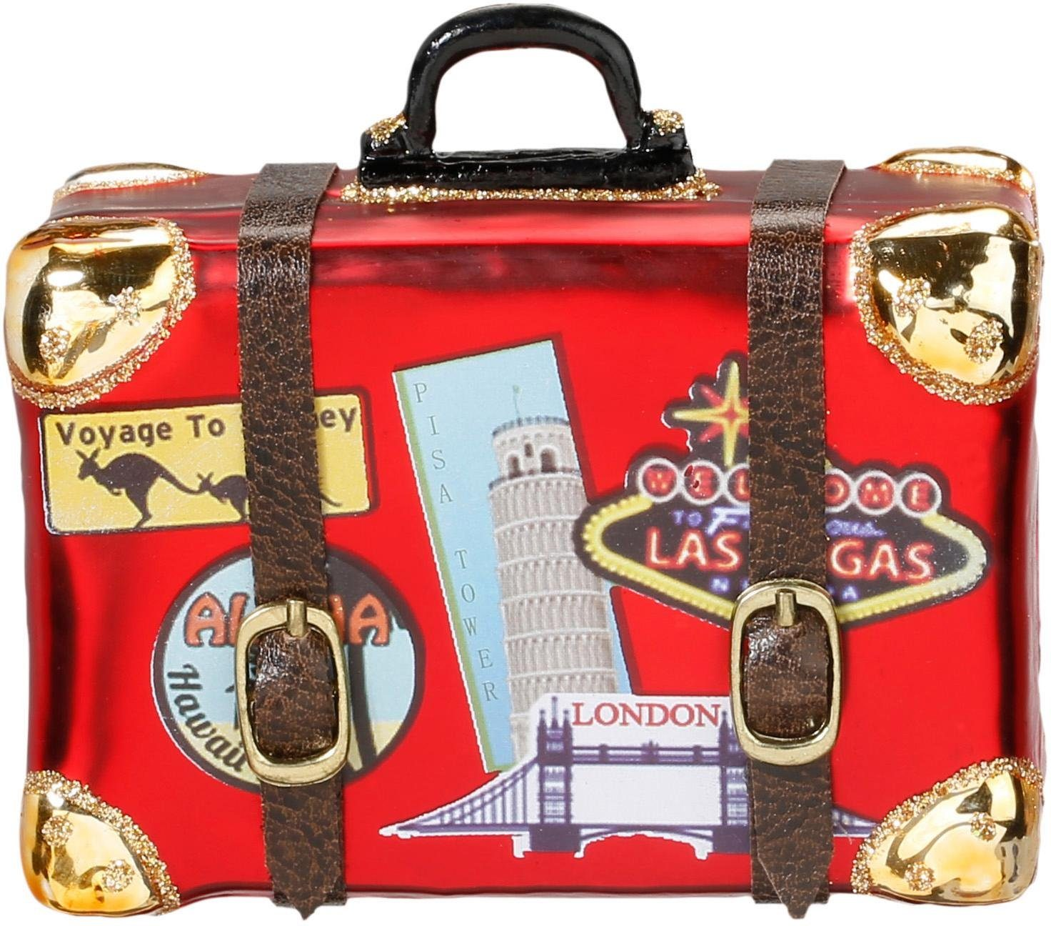 INGE-GLAS® Christbaumschmuck »Koffer weltweit« (2-tlg)