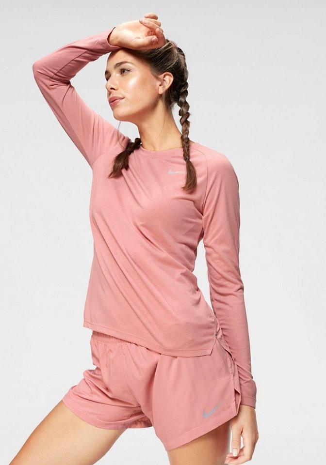 Damen Nike Laufshirt BREATHE TAILWIND TOP LONGSLEEVE rosa | 00191884132373