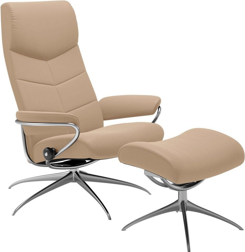 stressless set relaxsessel mit hocker dublin mit star. Black Bedroom Furniture Sets. Home Design Ideas