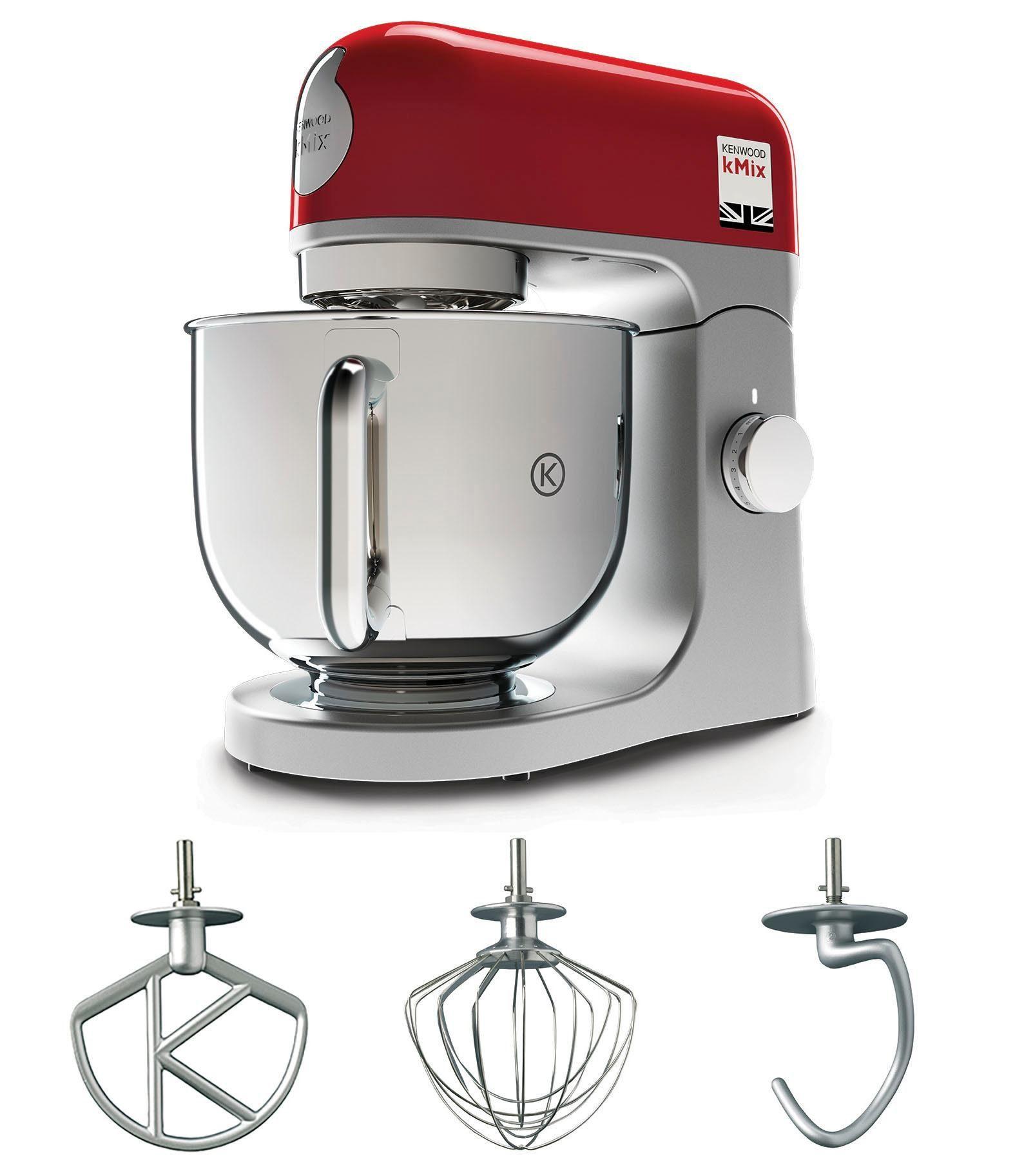 KENWOOD Küchenmaschine kMix KMX 750RD, 1000 W, 5 l Schüssel, inkl. 3-tlg. Patisserie-Set und 5l Schüssel