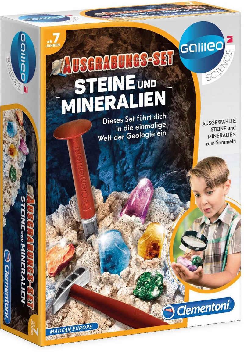 Clementoni® Experimentierkasten »Galileo Ausgrabungs-Set Steine und Mineralien«, Made in Europe