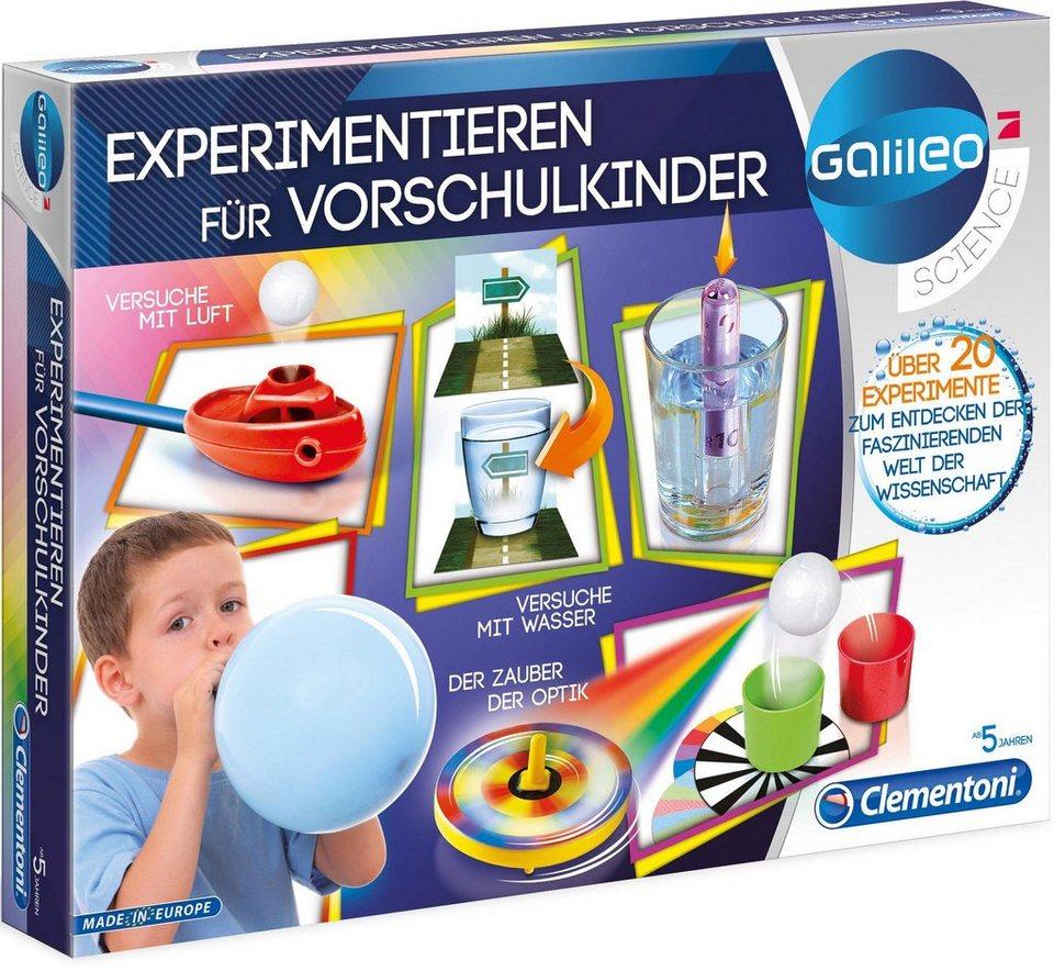 Experimentier-Set,  Galileo - Experimentieren für Vorschulkinder , Clementoni online kaufen