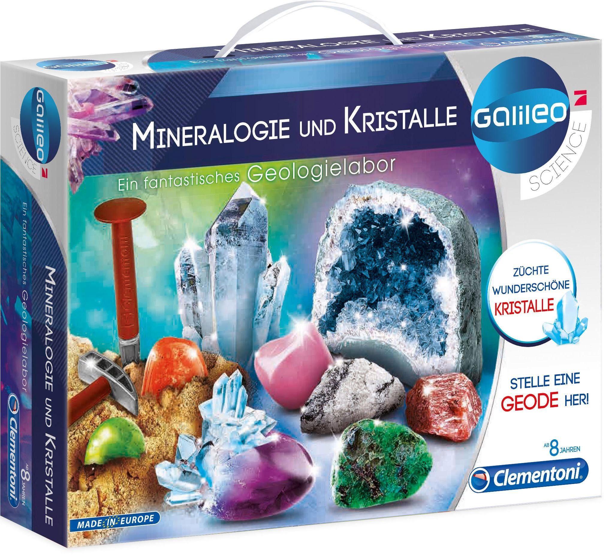 Clementoni Experimentierkasten, »Galileo Ausgrabungsset Mineralogie und Kristalle «