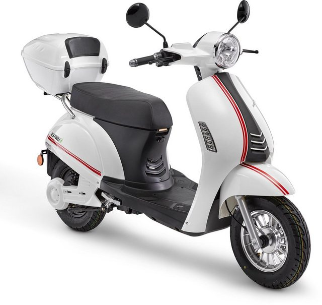 Luxxon E-Motorroller »E3100 LI 45 km/h«, 2000 W, 45 km/h, Euro 4, (Set, 2 tlg., mit Topcase)*