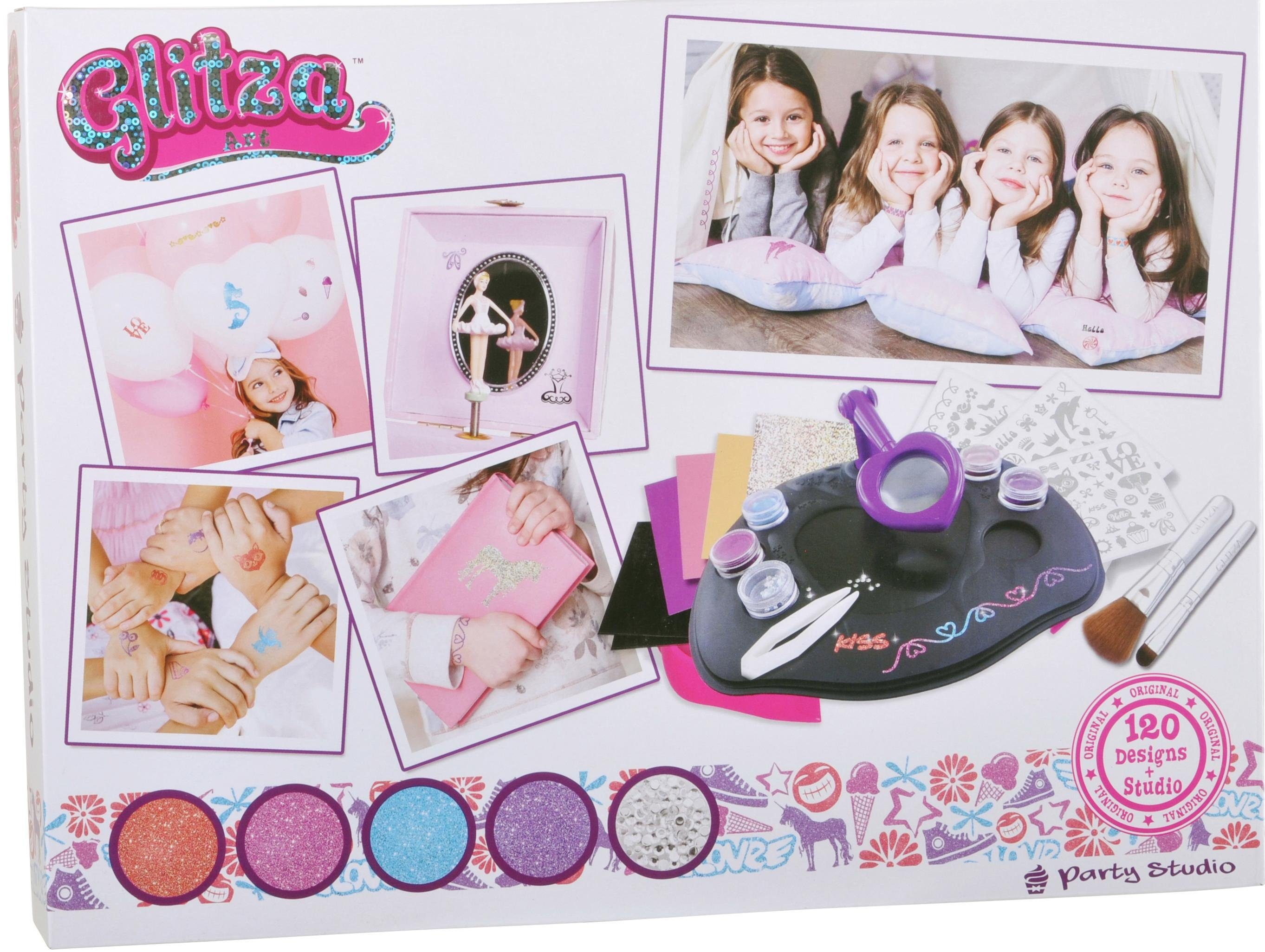 knorr toys Kreativset, »GLITZA Party Studio mit 120 Tattoos«