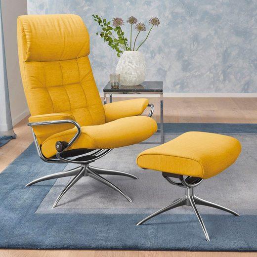 Stressless® Relaxsessel »London«, mit Hocker, mit Star Base, in 2 Höhen, mit Schlaffunktion