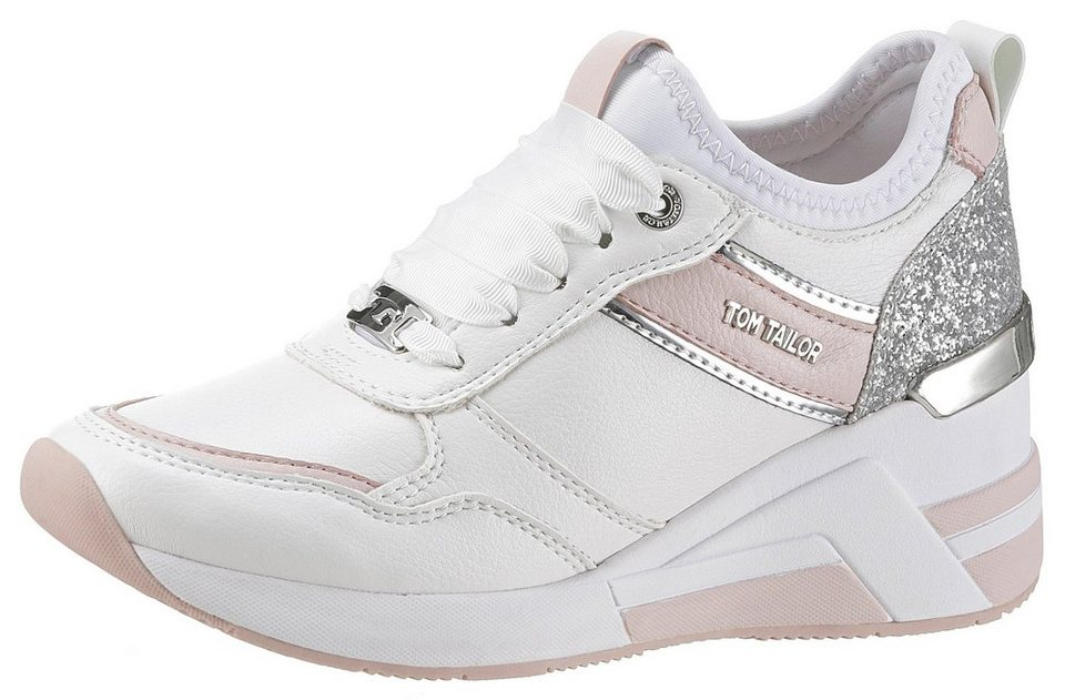 454a468023e21b TOM TAILOR Keilsneaker mit Metallic-Details kaufen