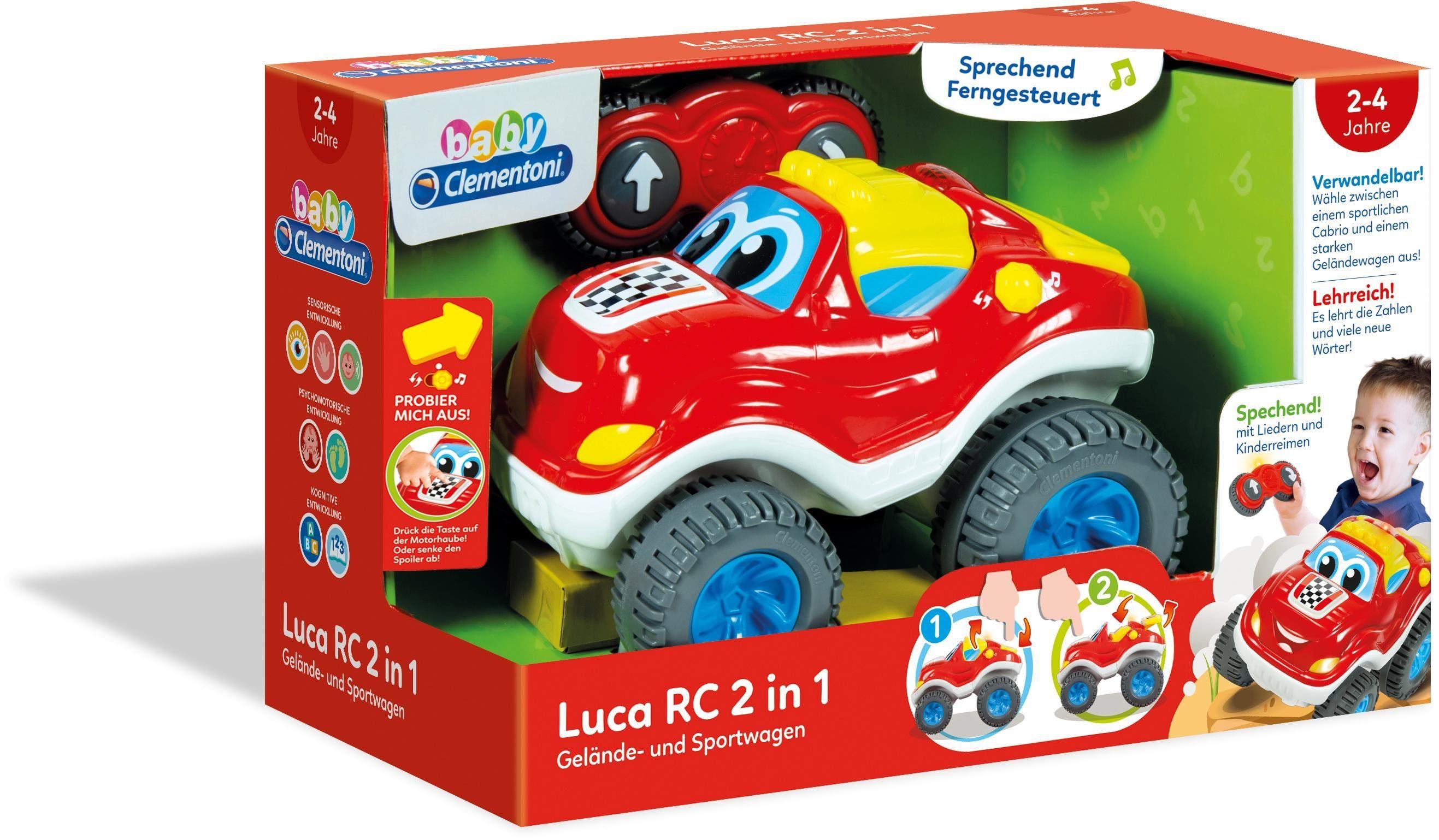 Clementoni Ferngesteuertes Auto mit Soundeffekten, »Baby, Luca, RC 2 in 1«