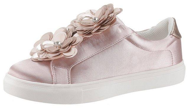 CITY WALK Slip-On Sneaker mit auffälliger Blüten-Applikation