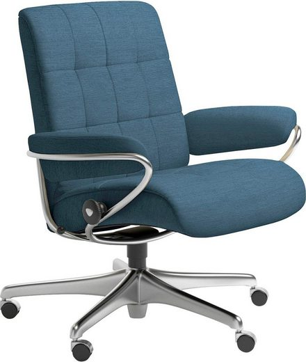 Stressless® Relaxsessel »London«, Low Back, mit Home Office Base, Gestell Chrom