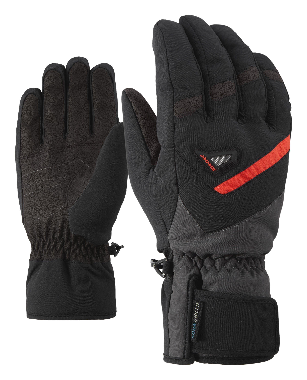 Unisex Ziener Skihandschuhe »GARY AS (R)« schwarz   04059749230458
