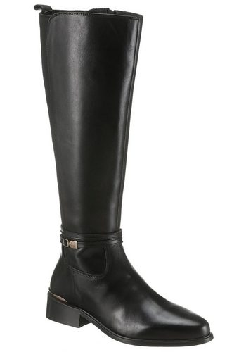 Damen Dune London Stiefel mit feinem Zierband schwarz | 05057661464776