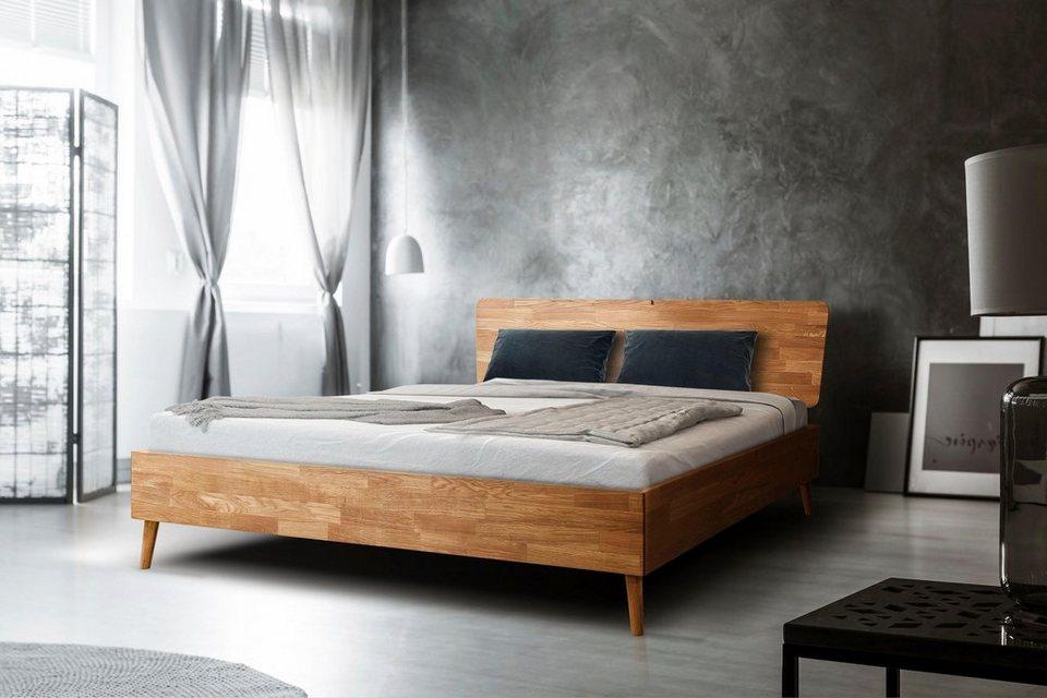 Home Affaire Bett »Scandi« aus massivem Eichenholz, mit Holzfüßen ...