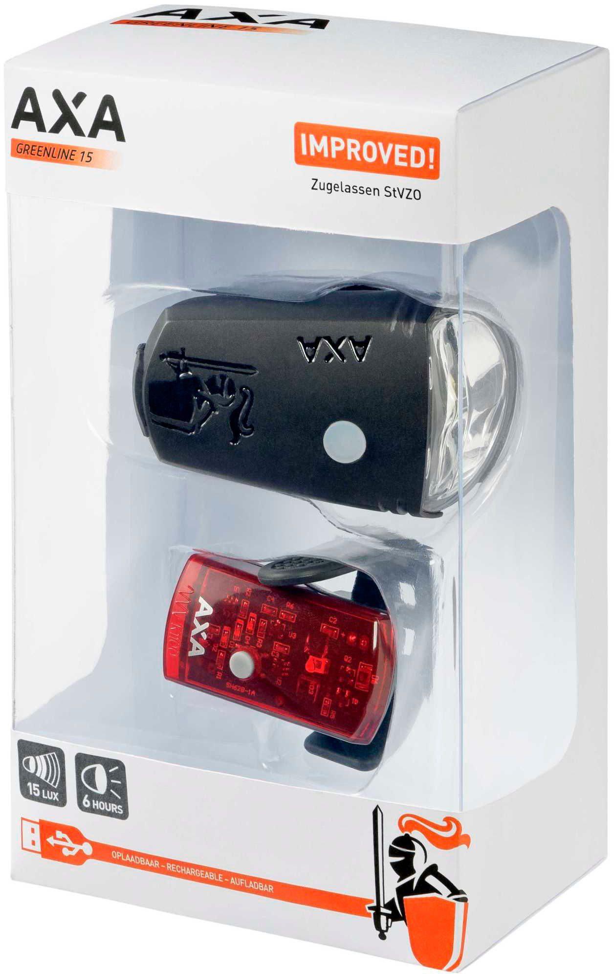 AXA Fahrradbeleuchtung »GreenLine 15 Beleuchtungsset«