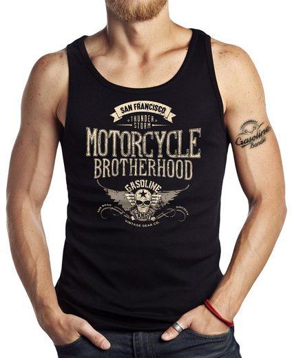 GASOLINE BANDIT® Tank-Top mit Motorcycle Brotherhood-XXL Aufdruck