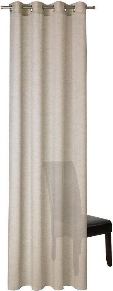 vorhang allure deko trends sen 1 st ck senschal mit metall sen online kaufen otto. Black Bedroom Furniture Sets. Home Design Ideas