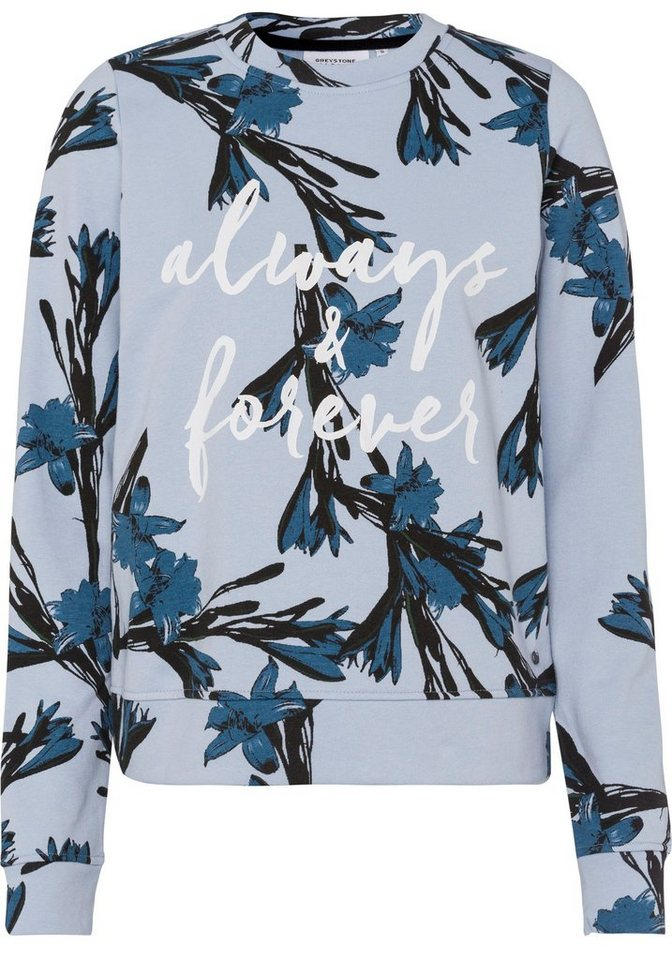 greystone sweatshirt mit wundersch nem blumen alloverprint online kaufen otto. Black Bedroom Furniture Sets. Home Design Ideas
