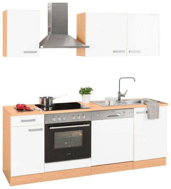 Einbauküchen - OPTIFIT Küchenzeile »Odense«, Breite 210 cm, inklusive Hanseatic Elektrogeräten  - Onlineshop OTTO