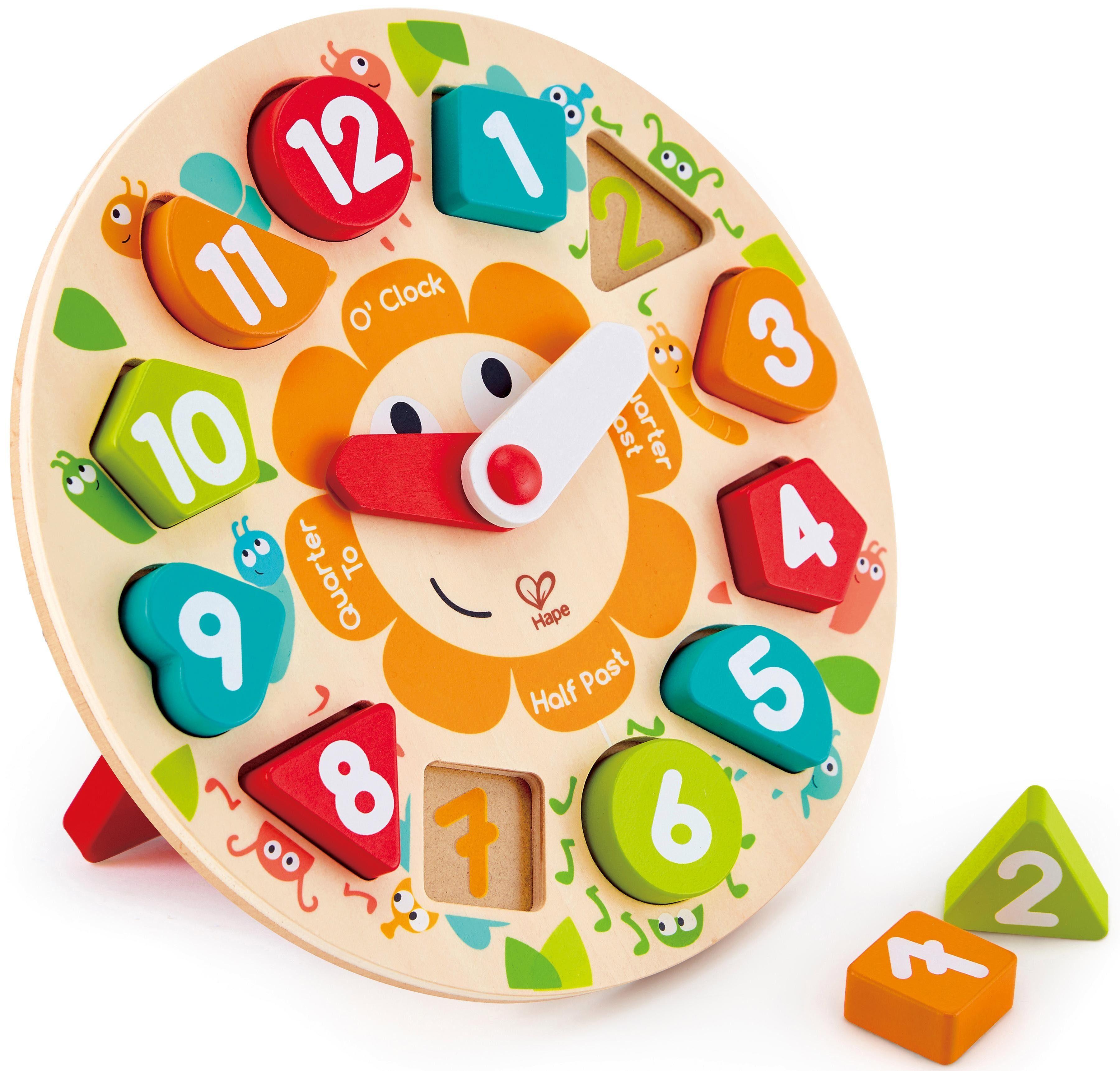 Hape Holzspielzeug, »Steckpuzzle Uhr«