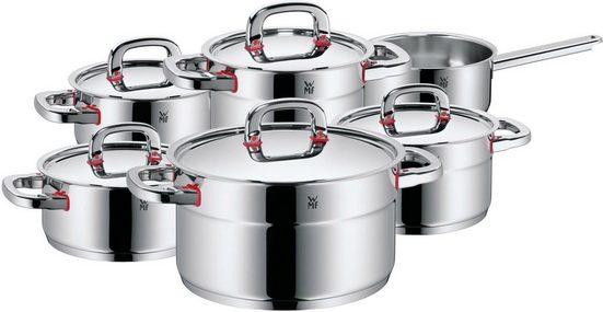 WMF Topf-Set »Premium One«, Cromargan® Edelstahl Rostfrei 18/10, (Set, 11-tlg), Induktion, 11 Teile