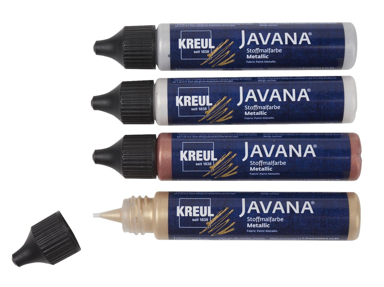 "Kreul Textilfarben-Set ""Javana Stoffmalfarbe Metallic"" 4er-Set"