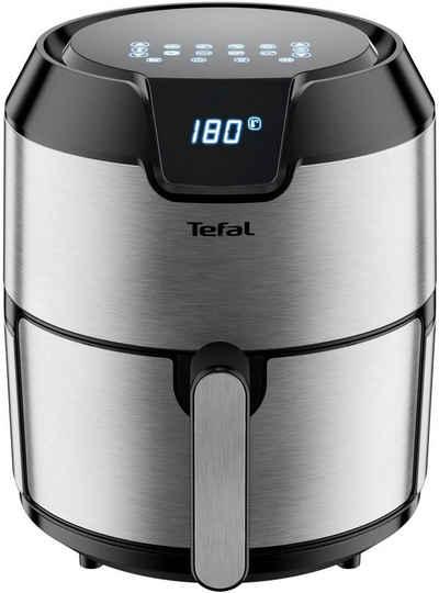 Tefal Heissluftfritteuse EY401D Easy Fry Deluxe XL, 1500 W, 6 automatische Programme, Digitales Display, Timer, Edelstahl/Schwarz