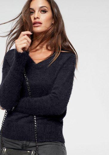 Vero Moda V-Ausschnitt-Pullover »BONNIE« aus Flauschgarn