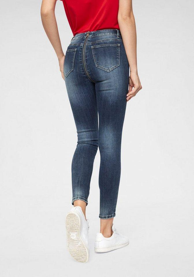 haily s skinny fit jeans isa mit rei verschluss hinten. Black Bedroom Furniture Sets. Home Design Ideas
