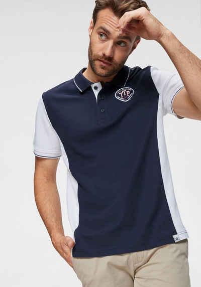 564f9ff570a79d TOM TAILOR Polo Team Poloshirt mit Kontrast-Ärmel und Kontraststreifen