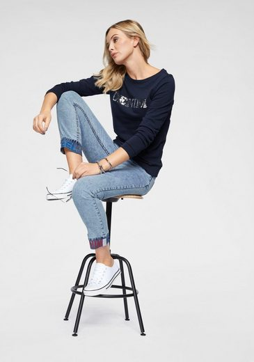Sweatshirt Wende Arizona pailletten« »mit Glänzenden H11fqX