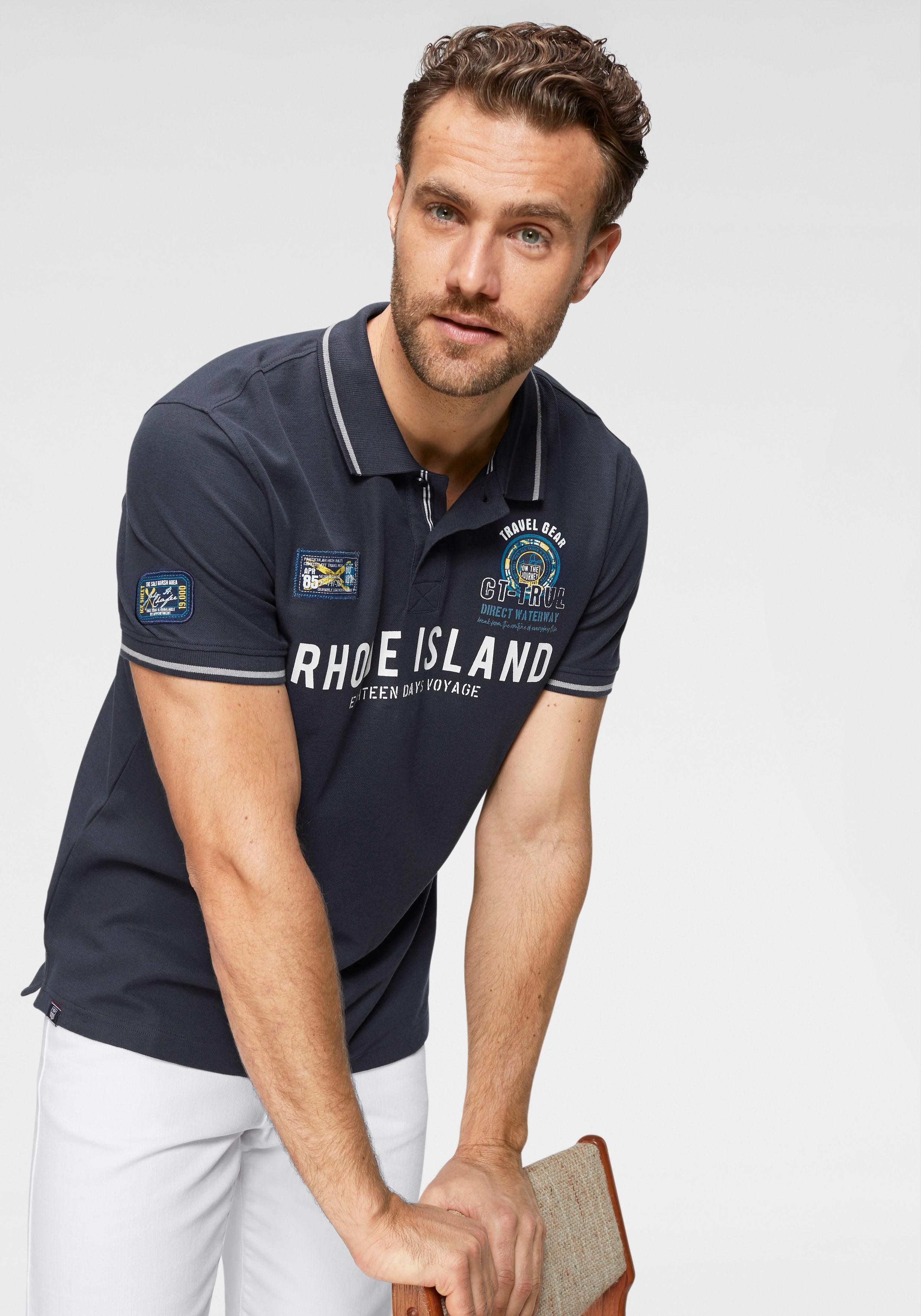 Rhode Island Poloshirt Pique´- Qualität und aufwendigem Print