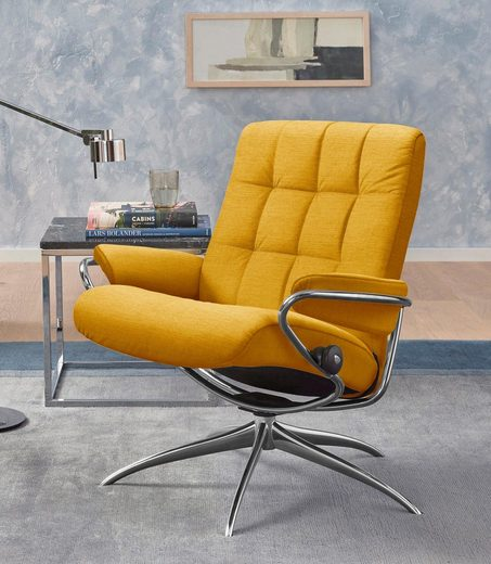 Stressless® Relaxsessel »London«, Low Back, mit Star Base, Gestell Chrom