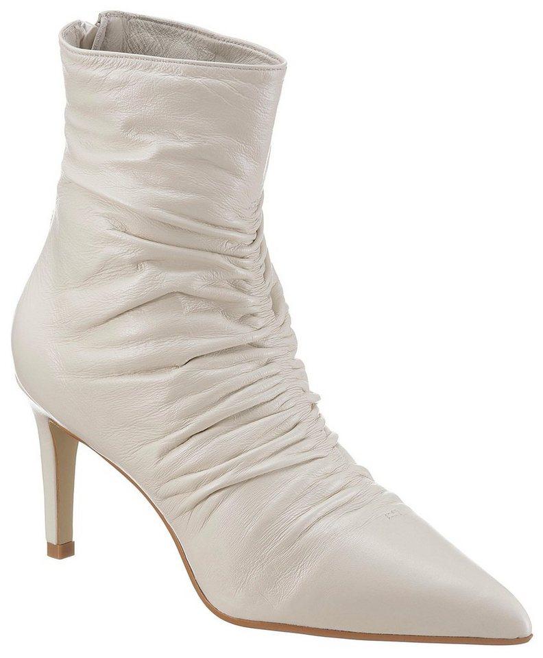 d87e2f6a8053b0 Dune London »Oasis - rouche point dressy boot« Stiefelette mit feinen  Raffungen