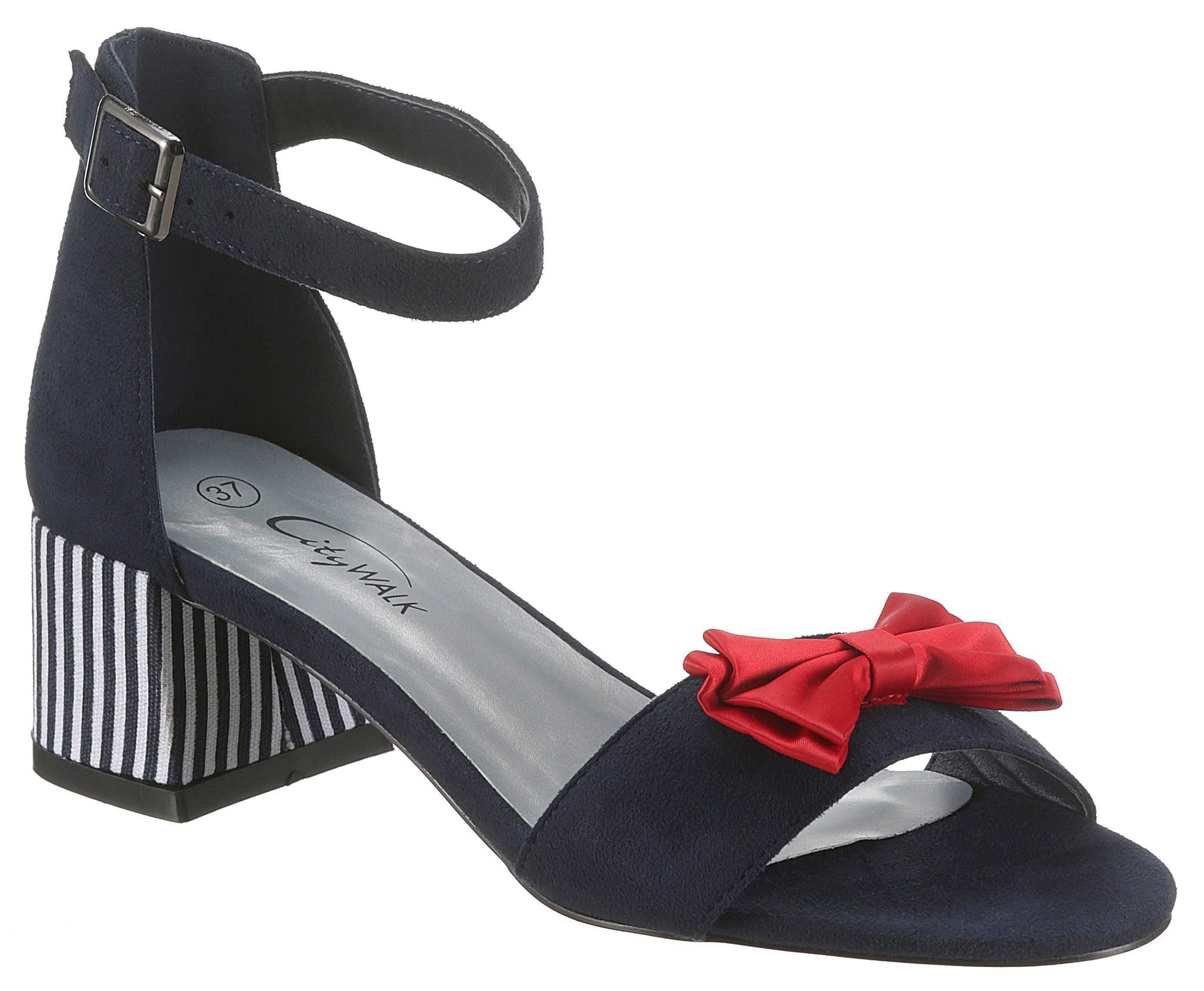 CITY WALK Sandalette mit roter Zierschleife