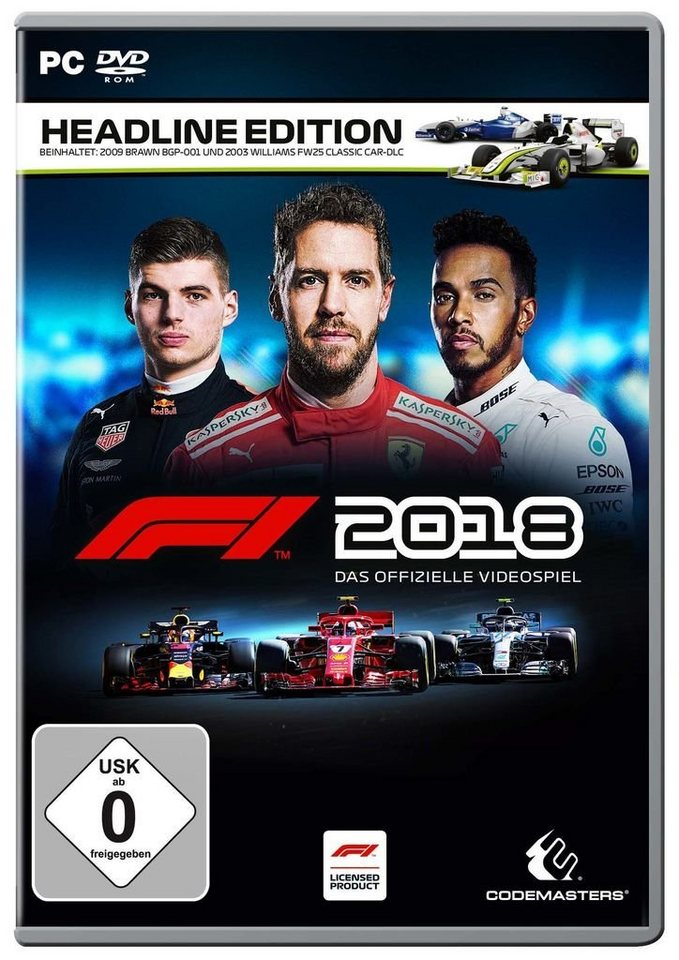 codemasters pc spiel f1 2018 headline edition otto. Black Bedroom Furniture Sets. Home Design Ideas