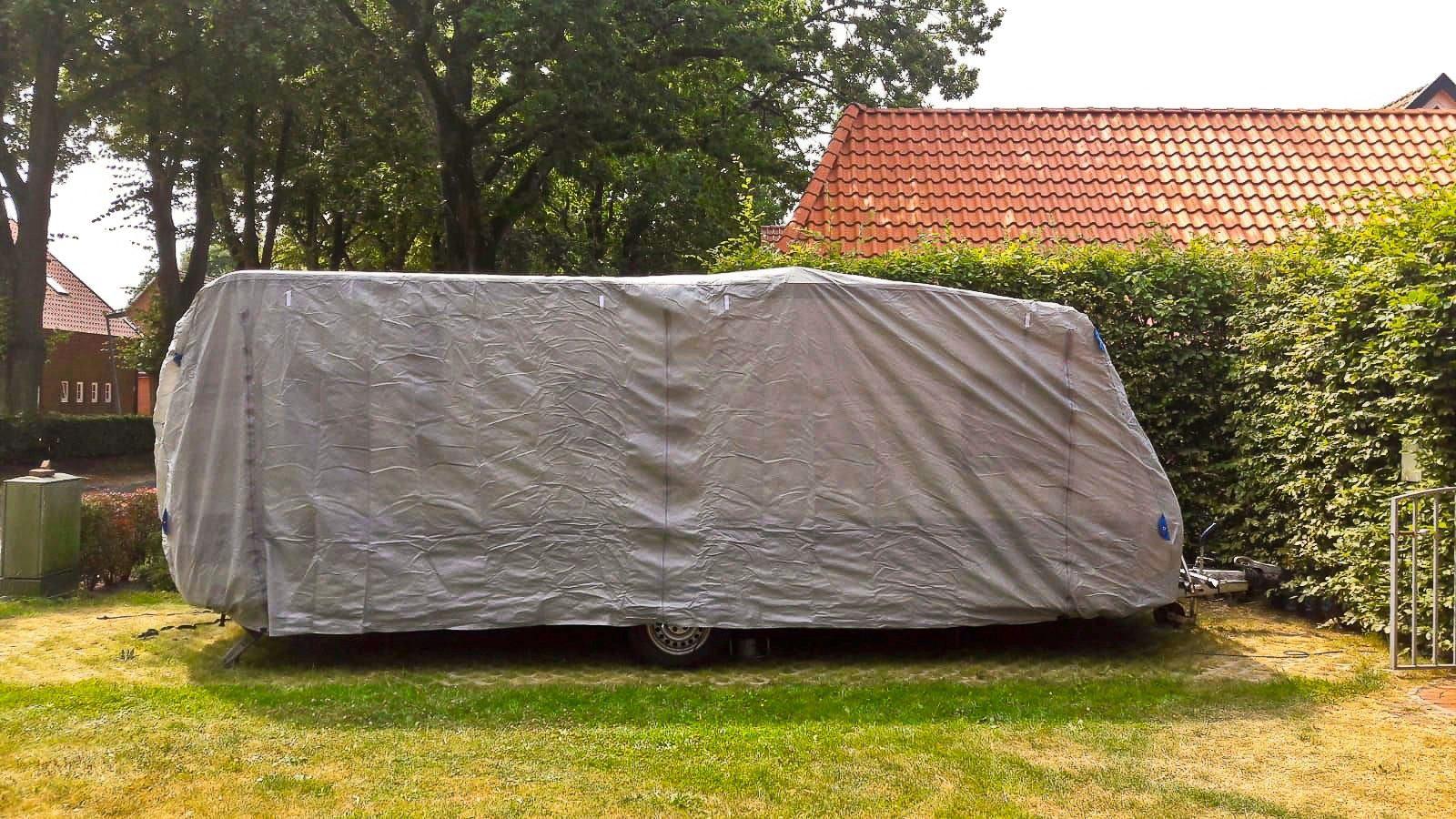 GARDEN PLEASURE Wohnwagenschutzhülle »Gr. L«, (L/B/H): ca. 610x250x220 cm, inkl. Aufbewahrungstasche