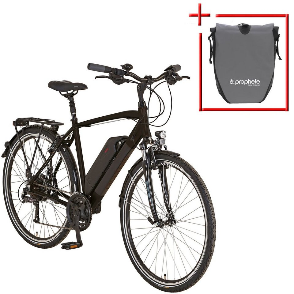 prophete e bike trekking herren entdecker e860 28 zoll 24 gang heckmotor 374 wh online. Black Bedroom Furniture Sets. Home Design Ideas