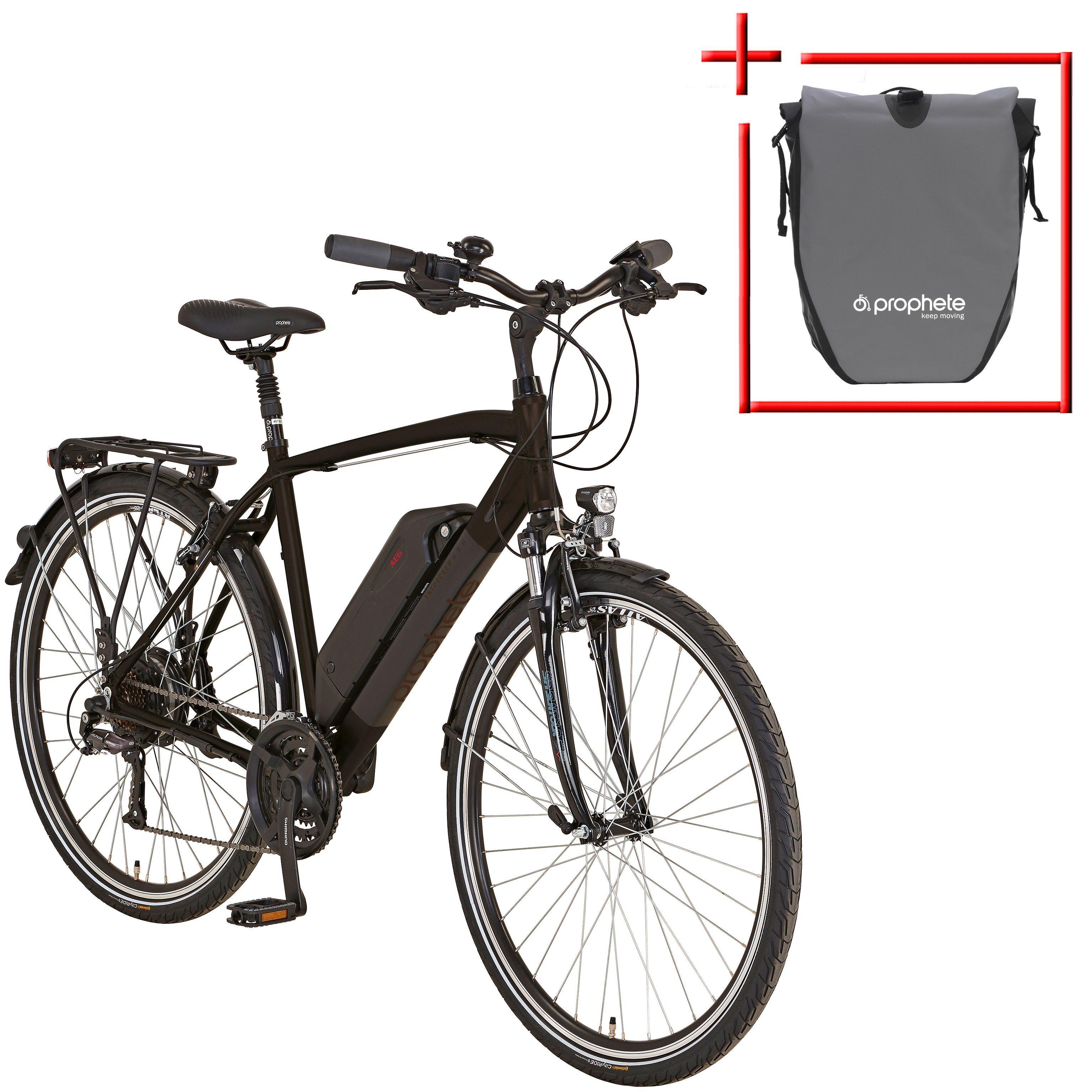 PROPHETE E-Bike Trekking Herren »Entdecker e860«, 28 Zoll, 24 Gang, Heckmotor, 374 Wh