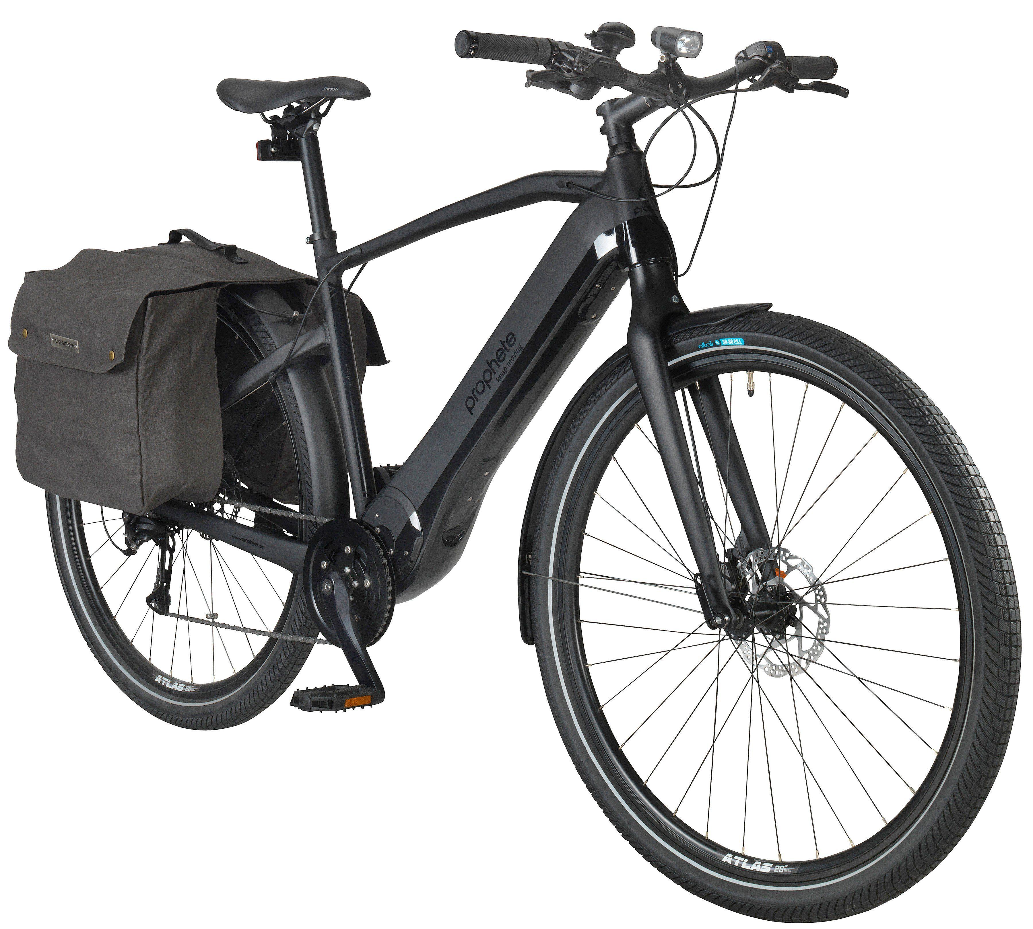 PROPHETE Komplett-Set: E-Bike Trekking »URBAN«, 28 Zoll, 8-Gang, Mittelmotor, 403 Wh