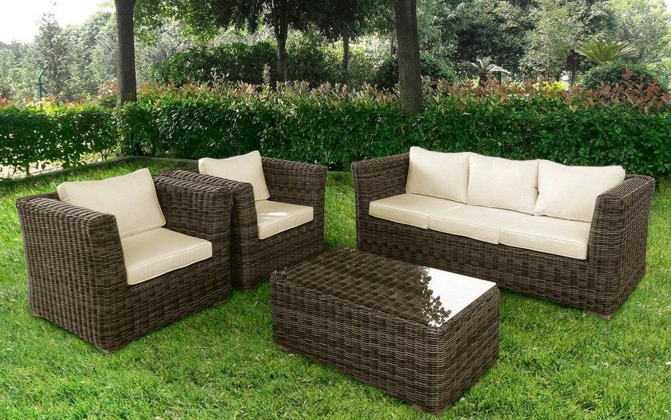 Baidani Loungeset Funky 14 Tlg 3er Sofa 2 Sessel Tisch