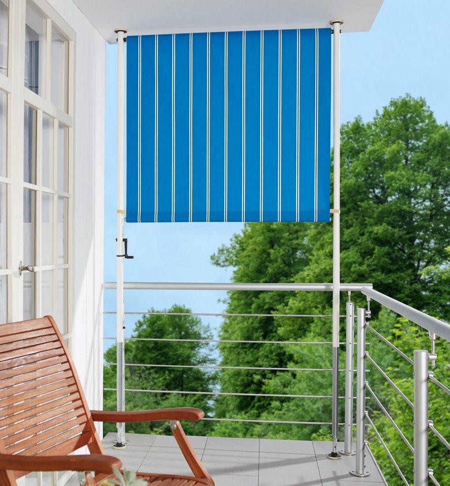 angerer freizeitm bel balkonsichtschutz polyacryl blau wei in 2 breiten online kaufen otto. Black Bedroom Furniture Sets. Home Design Ideas