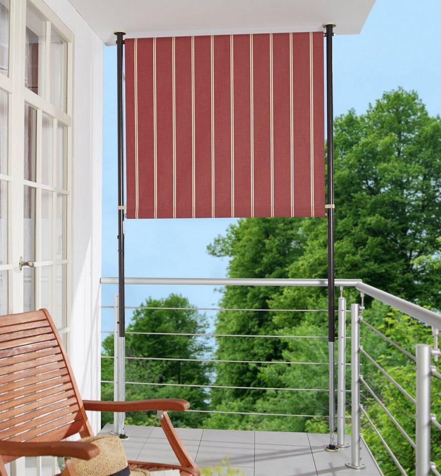 angerer freizeitm bel balkonsichtschutz polyacryl weinrot wei in 2 breiten online kaufen otto. Black Bedroom Furniture Sets. Home Design Ideas
