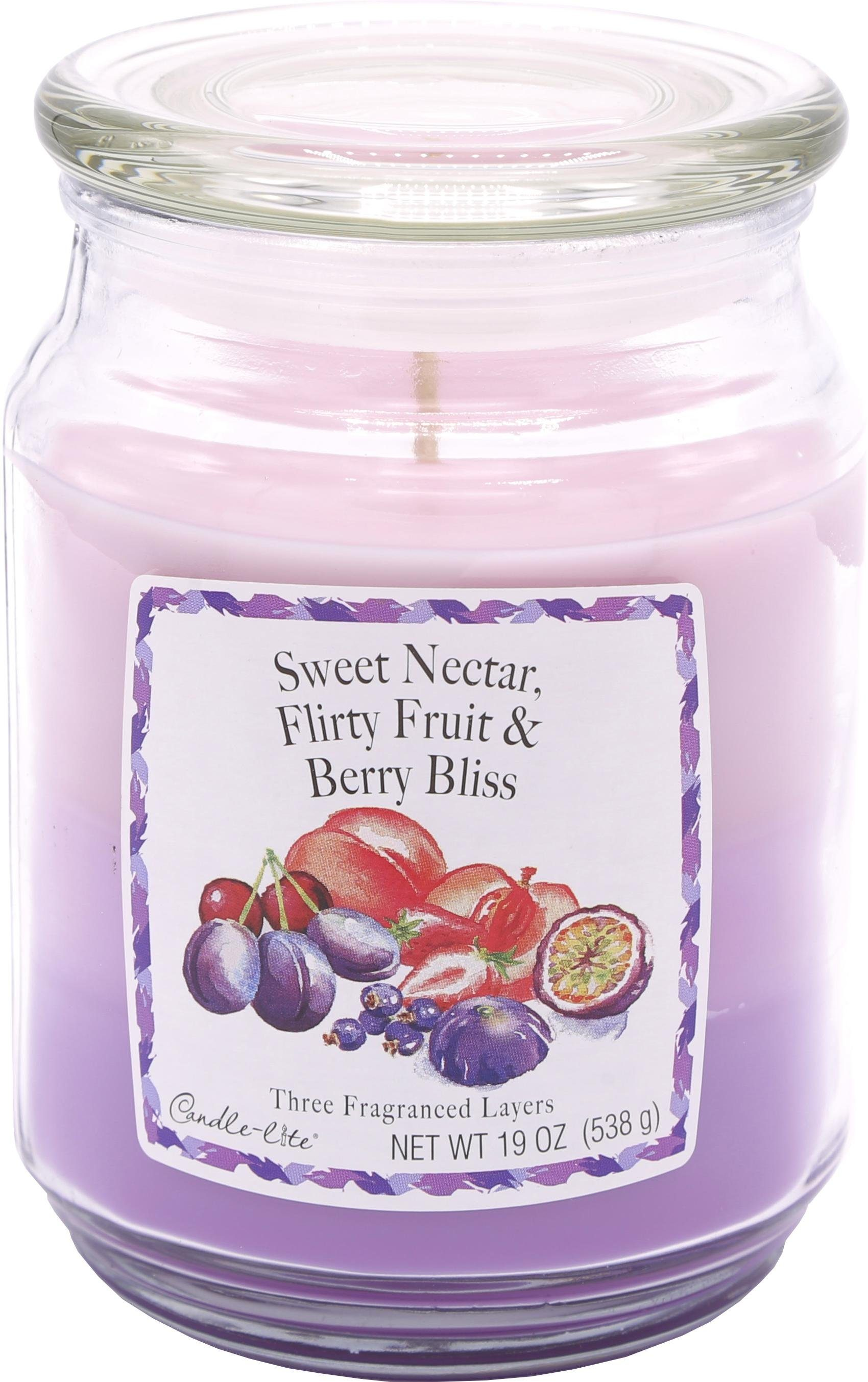 Candle-lite Duftkerze, 538g, »Three-Layer Jars - Sweet Nectar, Flirty Fruits, Berry Bliss«