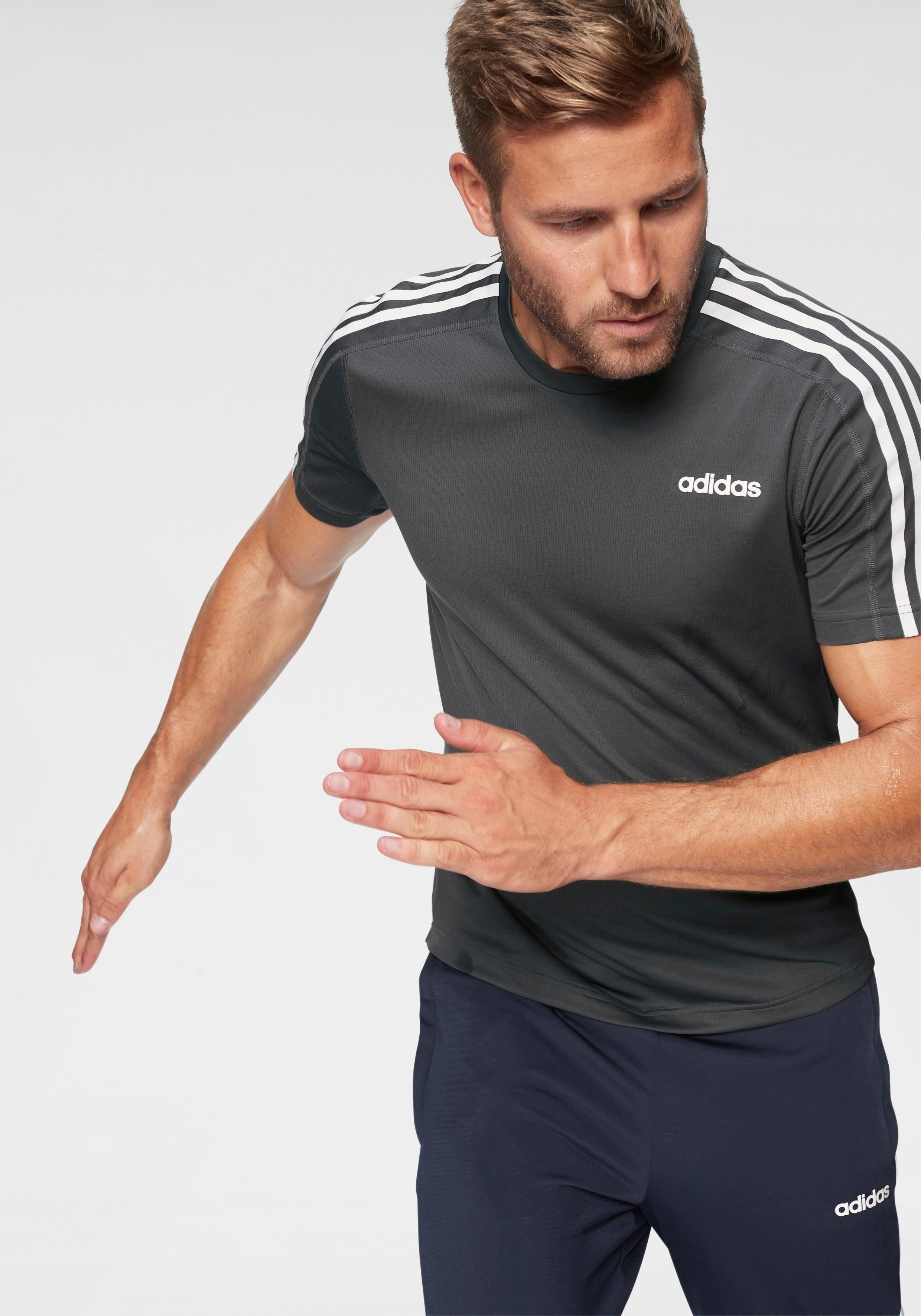 adidas T Shirt »D2M TEE 3 STRIPES«, T Shirt von adidas CORE SPORT online kaufen | OTTO