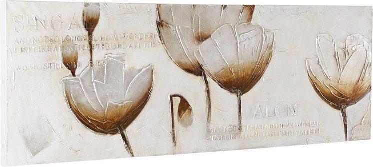 Premium collection by Home affaire Gemälde »Flowers«, Blumen, 150/50 cm