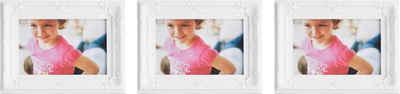 Home affaire Bilderrahmen, (Set, 3 Stück), Fotorahmen, weiß, Bildformat 10x15 cm