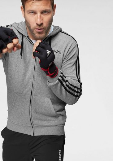 adidas Performance Kapuzensweatjacke »ESSENTIALS 3 STRIPES FULL ZIP FRENCH TERRY«